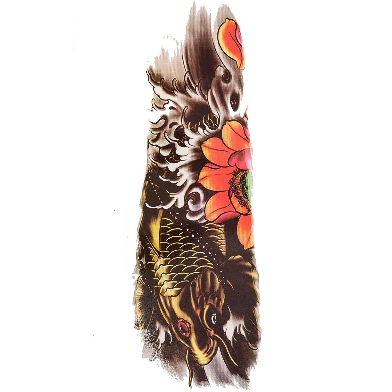 5b4957e73 Amazon.com : Large Full Arm Temporary Tattoo Stencil Waterproof Body Art (Koi  Fish) : Beauty