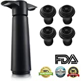 Wine Saver Pump Preserver 4 Vacuum Bottle Stoppers-to Save Fresh