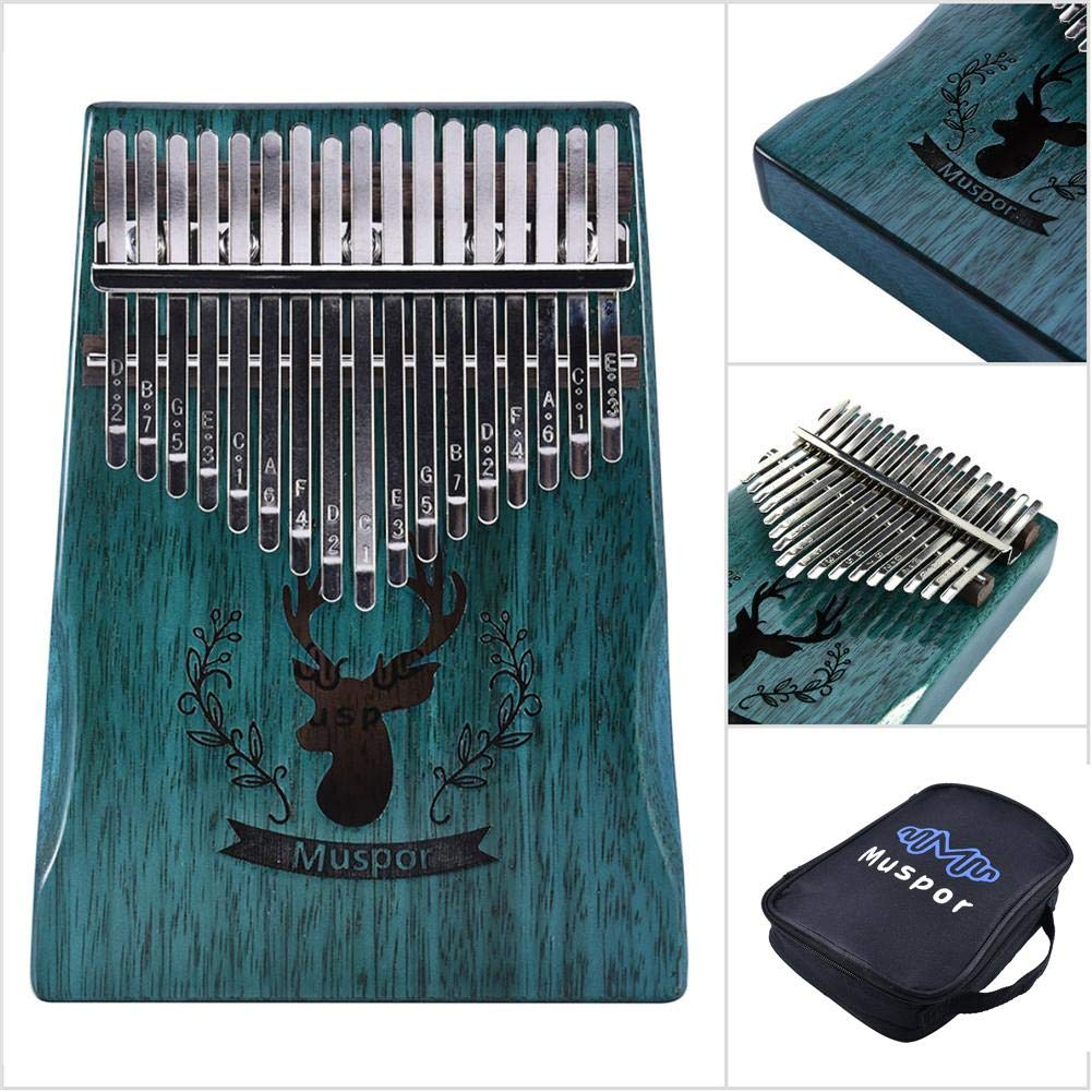 Urnanal 17 Key Kalimba Thumb Piano, Muspor Mahogany Wood Portable Finger Piano for Kids Adult and Beginners by Urnanal