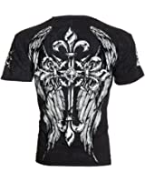Affliction Archaic Mens T-Shirt Hercules Cross Wings Tattoo Biker UFC