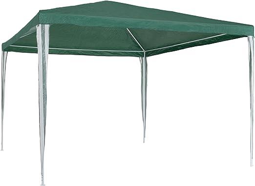 TecTake 800181 - Carpa de Jardín 3x3m, Tienda Impermeable, Cenador para Fiestas Eventos Camping (Verde | No. 401617): Amazon.es: Jardín