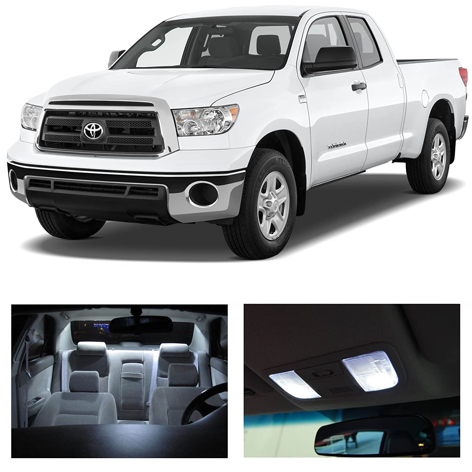Amazon com ledpartsnow toyota tundra 2007 2013 white led package kit interior tag cargo reverse 15 pieces automotive