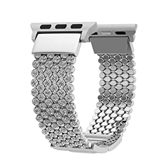 amazon fitbit iitee glitter watch bracelet smart bling dp for leather ionic com bands
