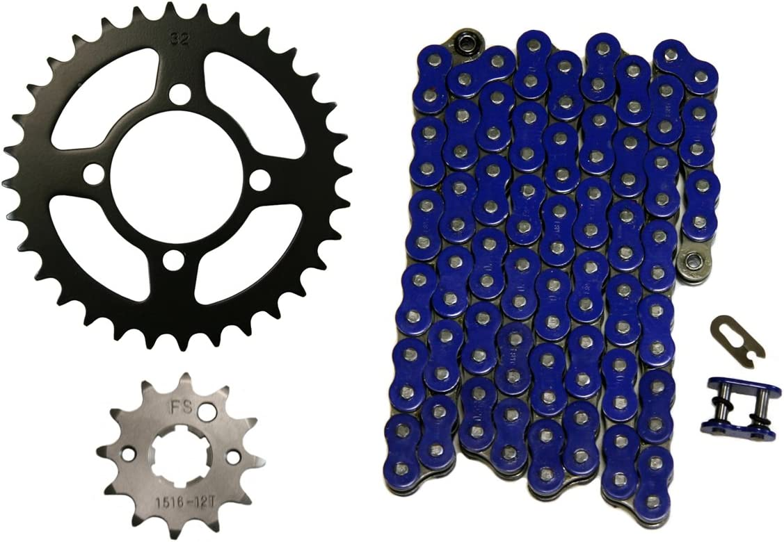 Red 520x74 Drive Chain /& 12//32 Sprockets 1989-2004 Yamaha Breeze 125 YFA1