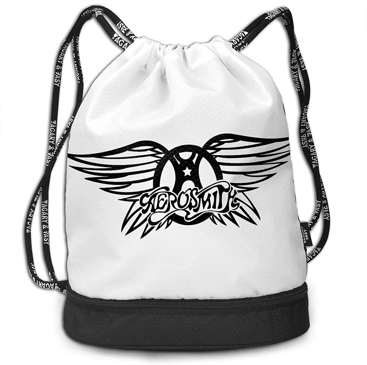 Sport Gym Travel Bag AgoodShop Aerosmith Drawstring Backpack