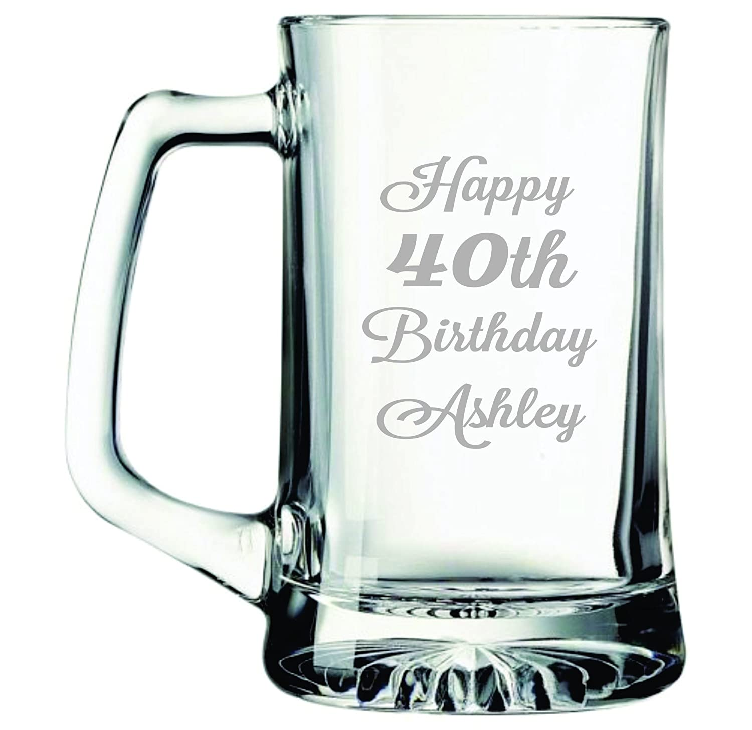 Personalized Happy Birthday Beer Mug