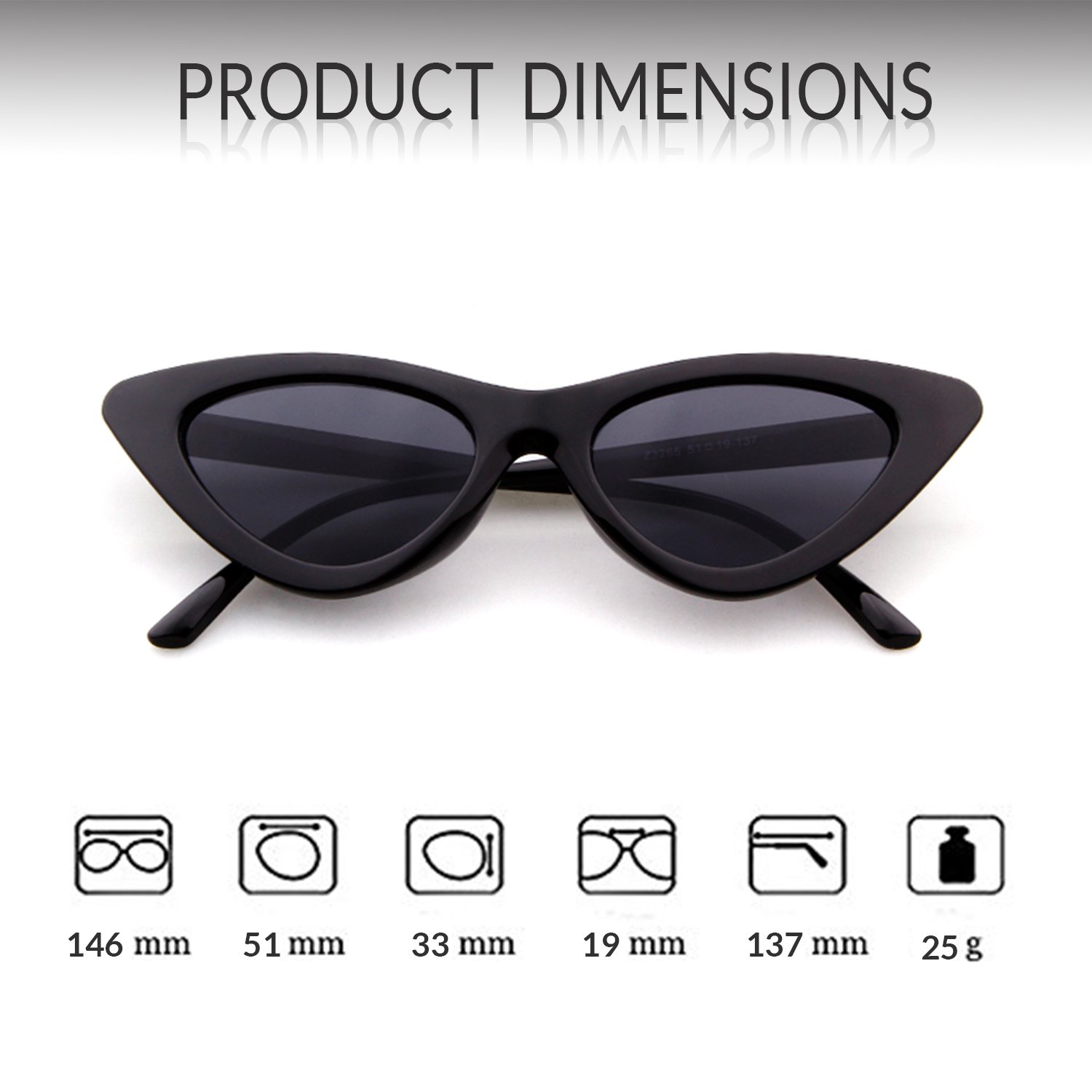 f669919e62a3 Retro Vintage Cat Eye Sunglasses for Women Clout Goggles Plastic Frame  Glasses - 43237-2 < Sunglasses < Clothing, Shoes & Jewelry - tibs