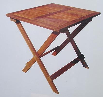 Table Basse en Bois D\'ACACIA Pliante PIABLE Decoration pour Salon Maison  Camping Jardin OU EXTÉRIEUR