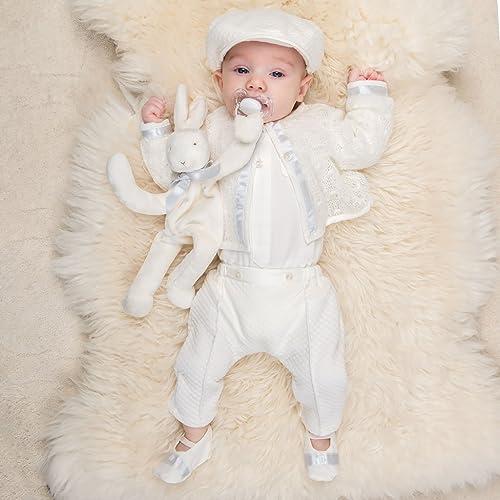 d4d8fcdd65f11 Amazon.com: Baby Boy Baptism Suit Owen Ivory Christening Suit for ...