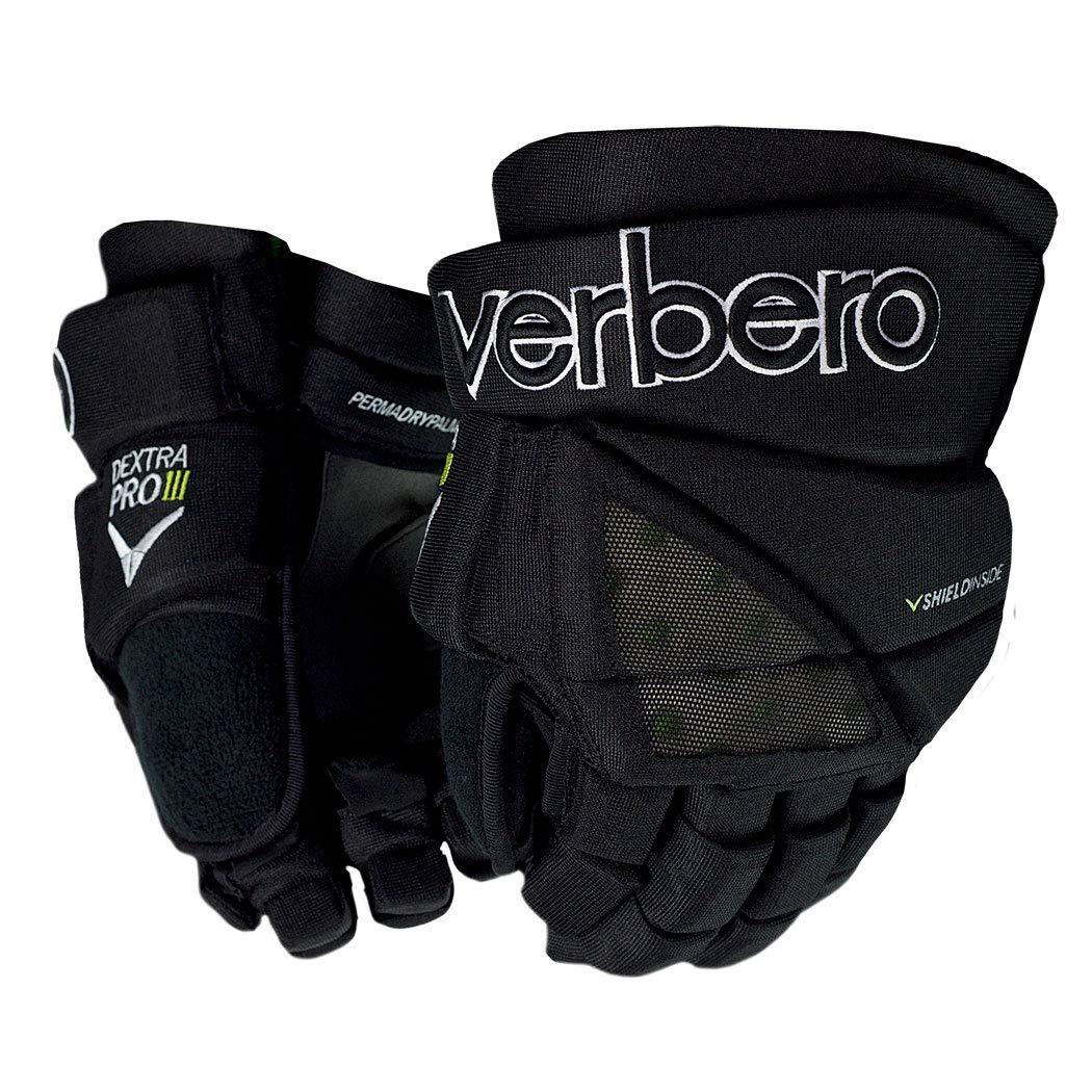 VERBERO Dextra Pro III Senior Gloves (12 Inch, Black)