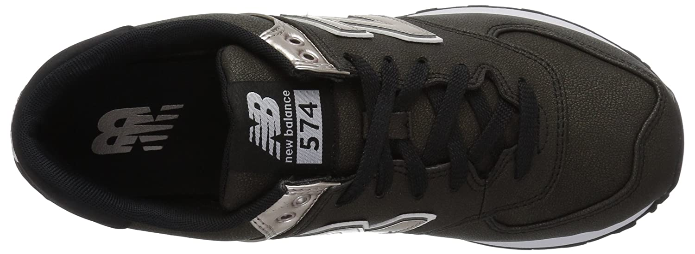 New Balance Women's 574v1 Sneaker Metallic B01MUSC7YR 7 D US|Black/Champagne Metallic Sneaker b32707