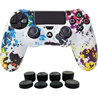 PS4 Controller Cover Silicone Gel Protector Skin Soft case for Sony Playstation 4 PS4/PS4 Slim/PS4 Pro Controller Video…