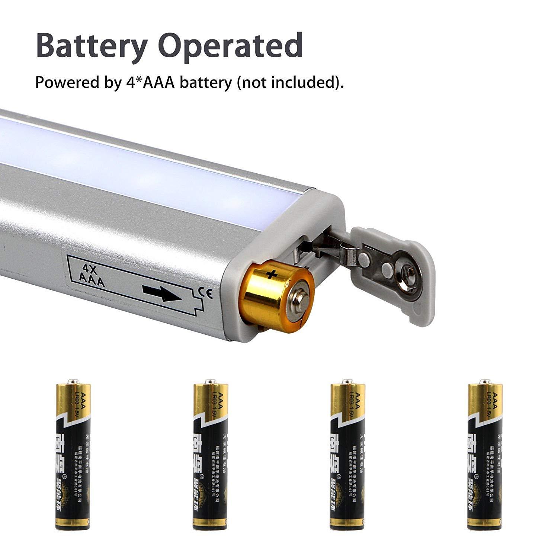 EEEKit Luz con sensor de movimiento, Luces Nocturnas 10 LED Pegar PIR Sensor activado por movimiento USB Armario Noche Nocturna Lámpara de gabinete para el ...