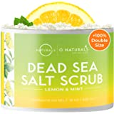 O Naturals Exfoliating Lemon Oil Dead Sea Salt Deep-Cleansing Face & Body Scrub. Anti-Cellulite Tones Treats Oily Skin…
