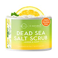 O Naturals Exfoliating Lemon Oil Dead Sea Salt Deep-Cleansing Face & Body Scrub....