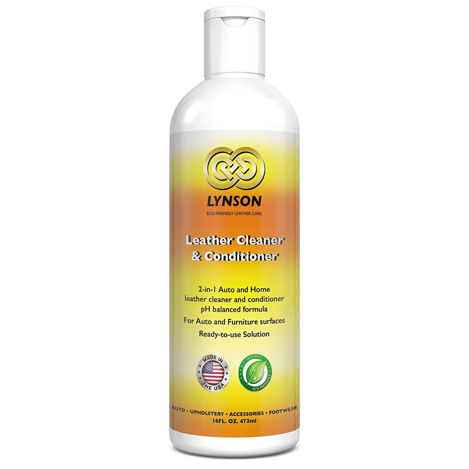 Amazon.com: LYNSON Leather Cleaner and Conditioner - Eco-Friendly ...