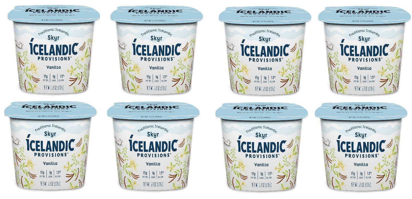 Icelandic Provisions, Skyr Vanilla Yogurt (Pack of 8)