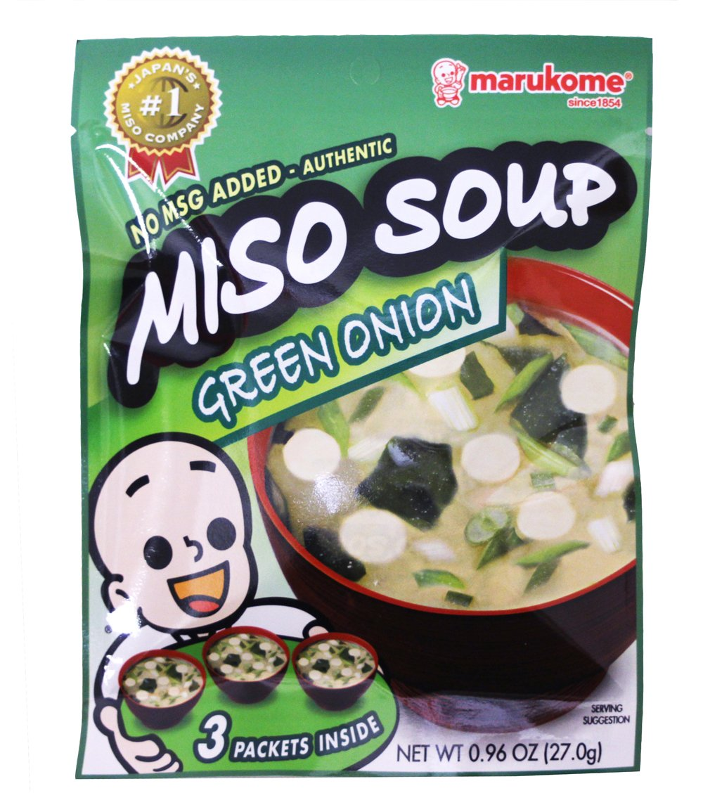 Marukome Miso Inst Green Onion (3-Count), 0.96-Ounce Packages (Pack of 12)