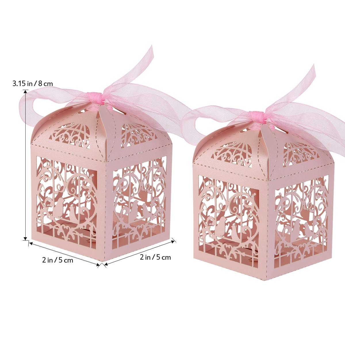 Amazon.com: ULTNICE 50pcs Hollow Wedding Favor Candy Chocolate Gift ...