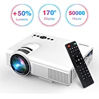 TENKER N5 Full HD 1080p 2200-Lumens Home Theater Projector