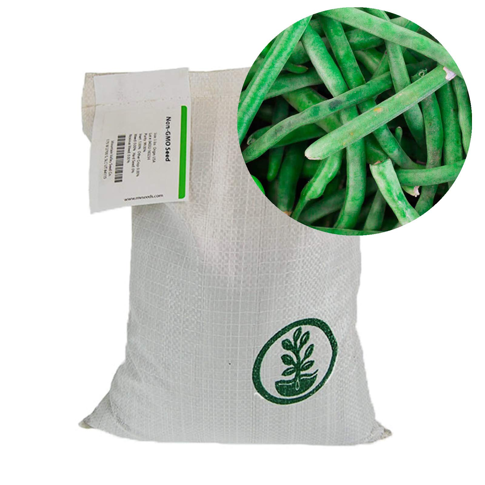 Mountain Valley Seed Company Jade Bush Bean Seeds - 50 Lb Bulk - Non-GMO, Heirloom Green Bean Seeds - Vegetable Garden Seeds