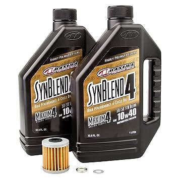 Tusk Kit de cambio de aceite de 4 tiempos Maxima mezcla sintética 10W-40 - Compatible con: Suzuki RMX450Z~2017-2018: Amazon.es: Coche y moto