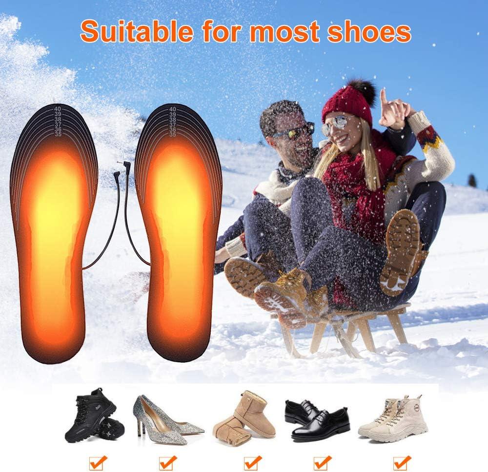 scaldapiedi Suxman Solette riscaldate Suole riscaldate Solette riscaldate Uomo Donna per Escursionismo Invernale allaperto Campeggio termosol con USB