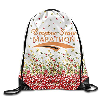 bd0578c6eb4e Amazon.com: Empire State Marathon 2016 New York Drawstring Backpack ...