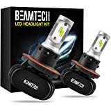 BEAMTECH H13 LED Headlight Bulb, 50W 6500K 8000Lumens Extremely Brigh (9008 Hi/Lo) CSP Chips Conversion Kit