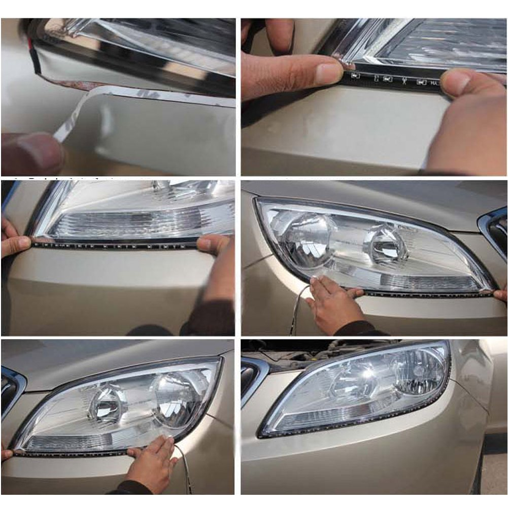 Amazon 4 pcs 30cm car truck flexible waterproof led light strip amazon 4 pcs 30cm car truck flexible waterproof led light strip white white automotive aloadofball Images