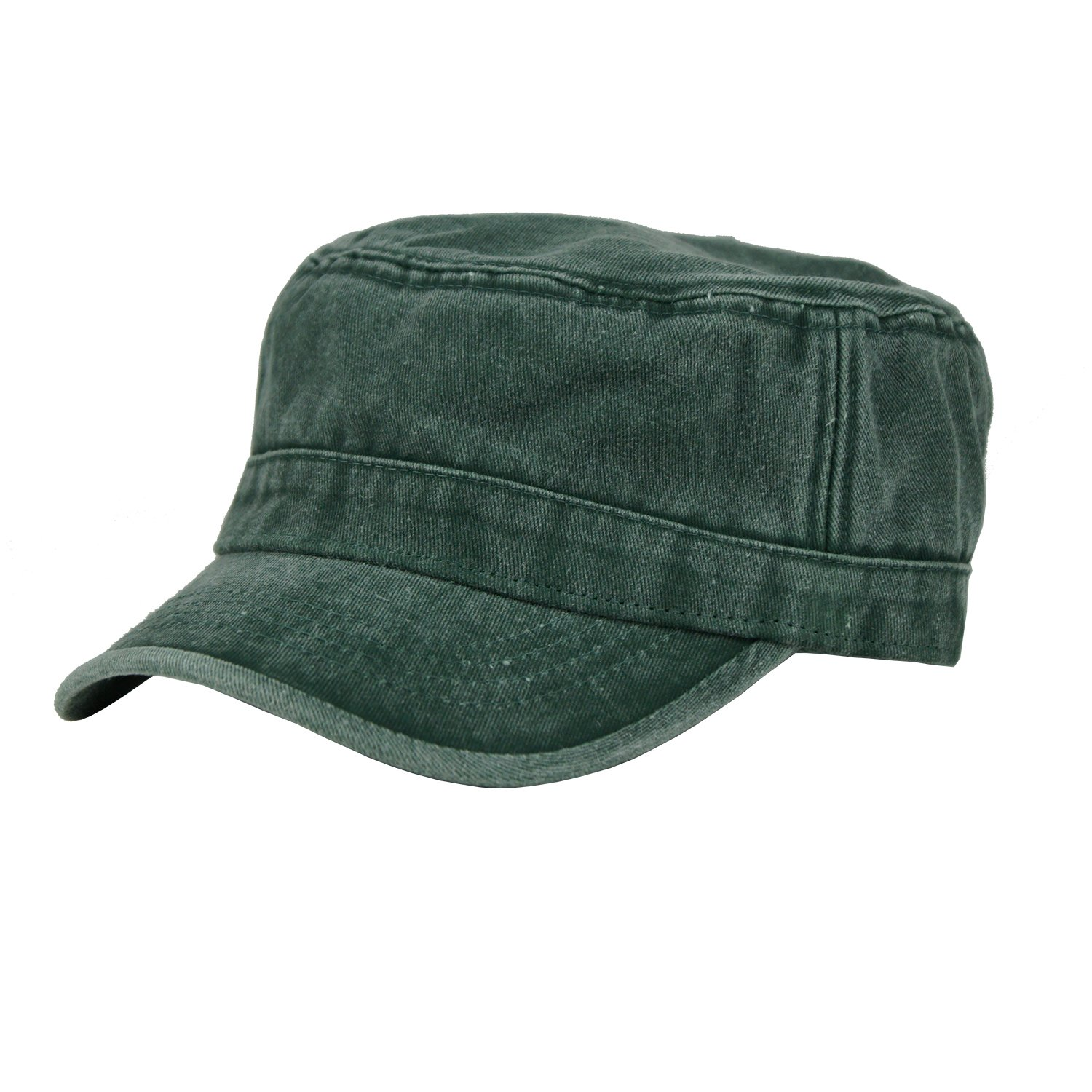 Free Bird 99 Low Profile Cotton Flat Top Peaked Army Military Cadet Cap Hat