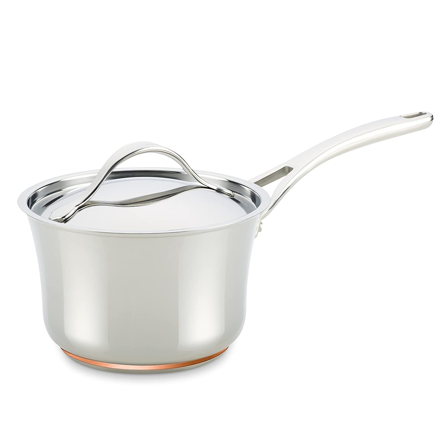Anolon Nouvelle Copper Stainless Steel 3-1/2-Quart Covered Saucepan Meyer 77274