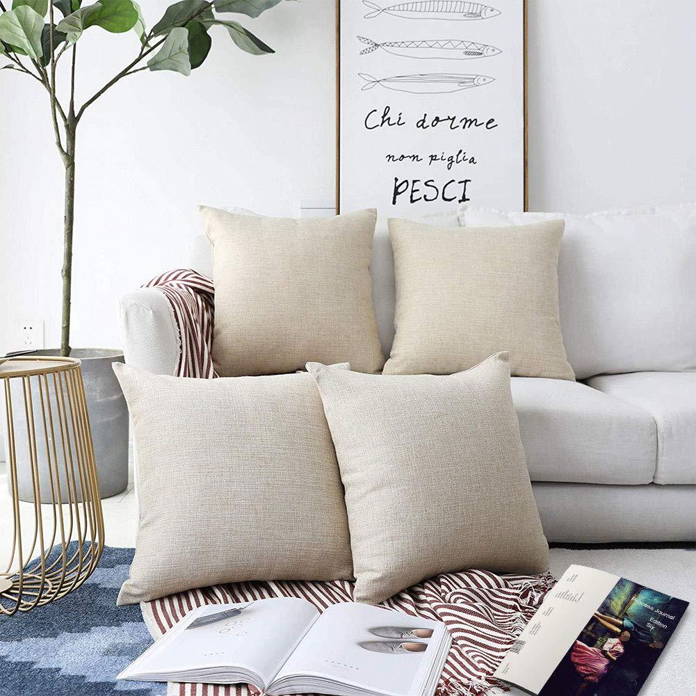 Amazon Com Mrniu Decorative Pillow Covers 20x20 Inch 4pcs Coastal