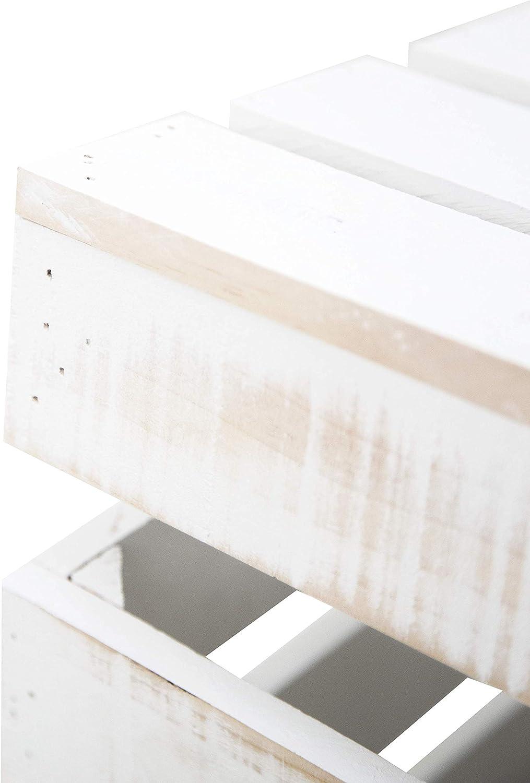 Decowood - Baúl de Madera para Decorar y Almacenar, Hecho en Pino Gallego Envejecido - 49 x 30.5 x 33 cm: Amazon.es: Hogar