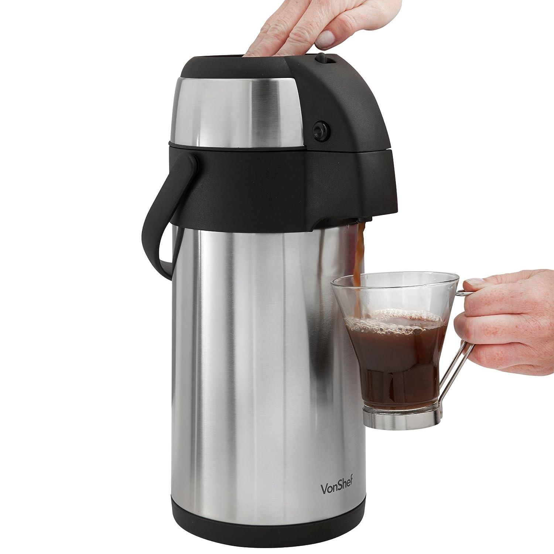 VonShef多功能不锈钢保温壶,让您的饮料保温一整天