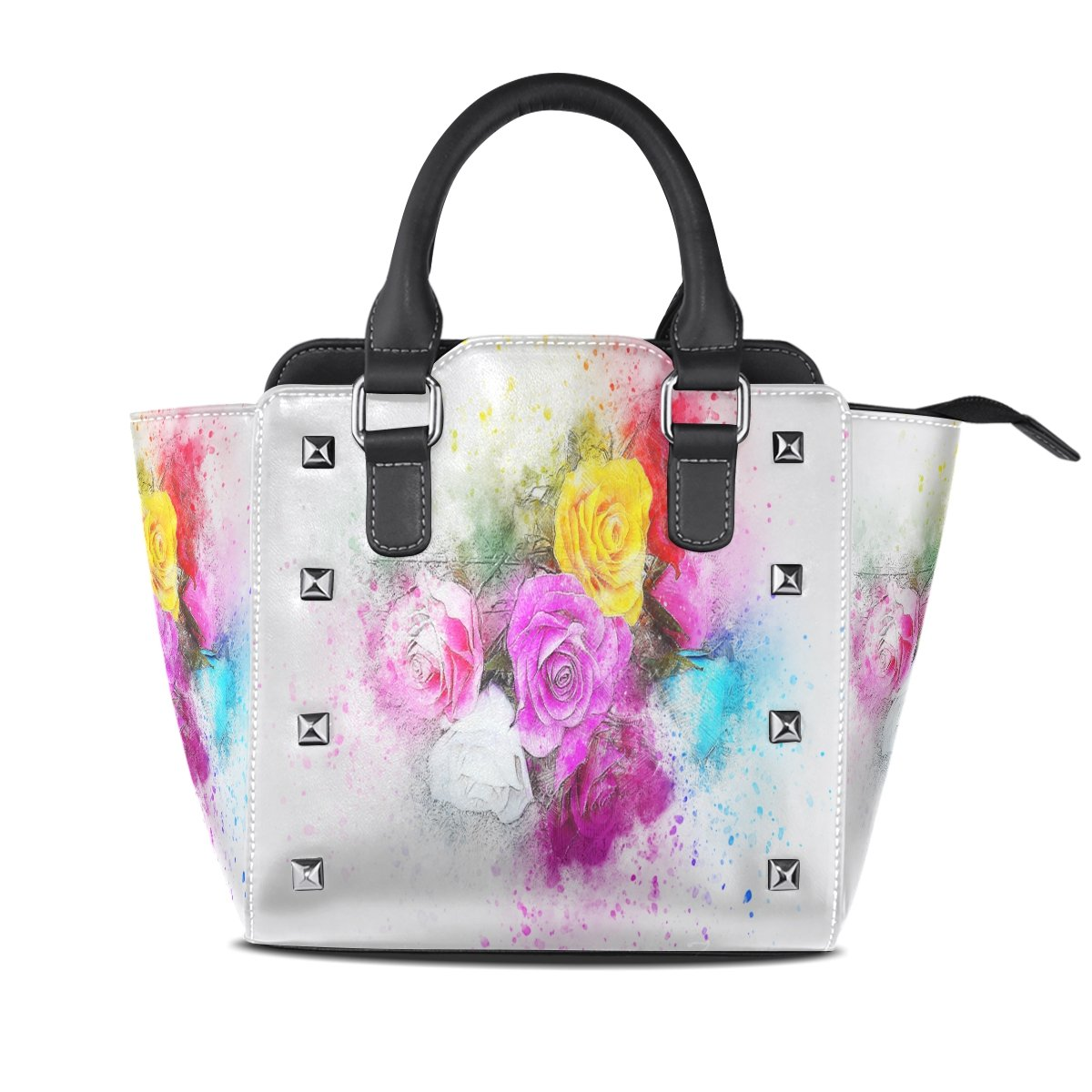 Womens Genuine Leather Hangbags Tote Bags Seven Colour Flowers Purse Shoulder Bags