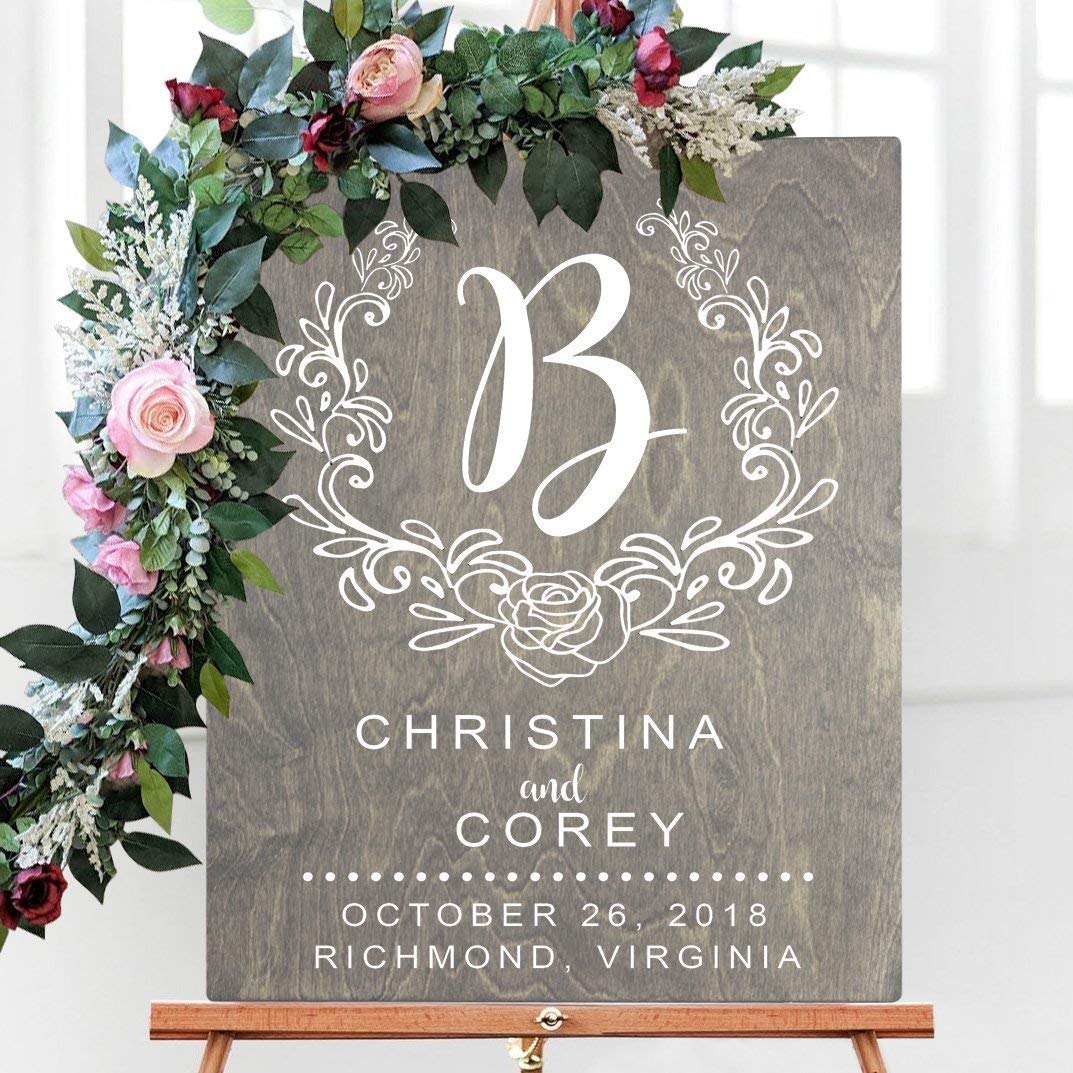 Wedding Welcome Sign.Amazon Com Wooden Wedding Welcome Sign Wedding Welcome