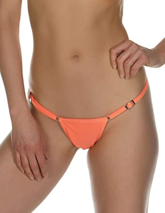 ba9d345d5b9ab KKompany Women s New Brazilian Micro Thong Bikini Mini Adjustable Bottom  Swimwear Sexy Bottom Separates Orange UK12