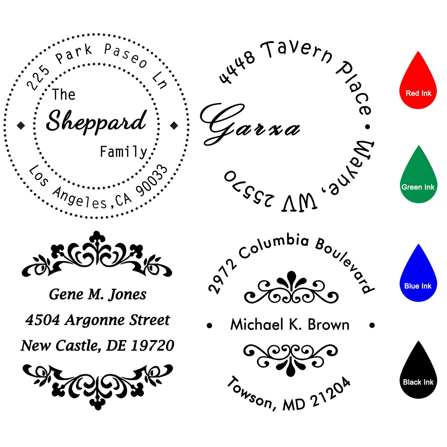 Custom Stamp Self Inking Personalised Stamp Diameter 40mm Round Return Address Rubber Stamps For Business Wedding Teachers Nurses Home Bank Or Office