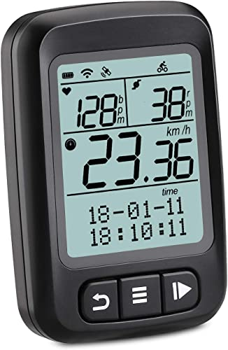 Wantacme Wireless Bike Computer GPS Bluetooth ANT Cycling Computer IP67 Waterproof Bicycle Speedometer and Odometer