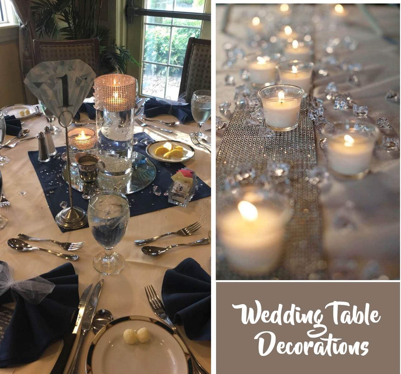 trasparente decorazione da tavolo Absofine Diamanti decorativi in cristallo trasparente 20mm-200Stk per bouquet e matrimonio incolore acrilico cristallo.