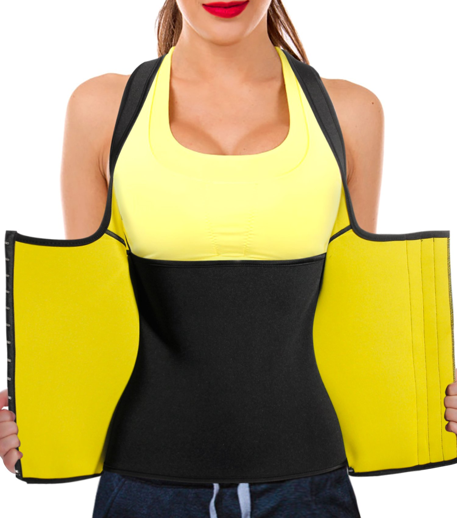 f2667825f8d Junlan Women Neoprene Waist Trainer Vest Corset Tank Top Sauna Body Shaper  Weight Loss product image