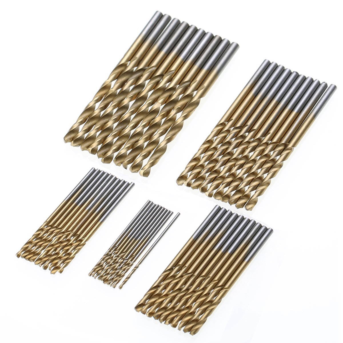 50 Stü cke Spiralbohrer HSS High Speed Stahl Metallbohrer Micro Bohrer Set 1/1.5/2 / 2.5 / 3mm LANSEYQO