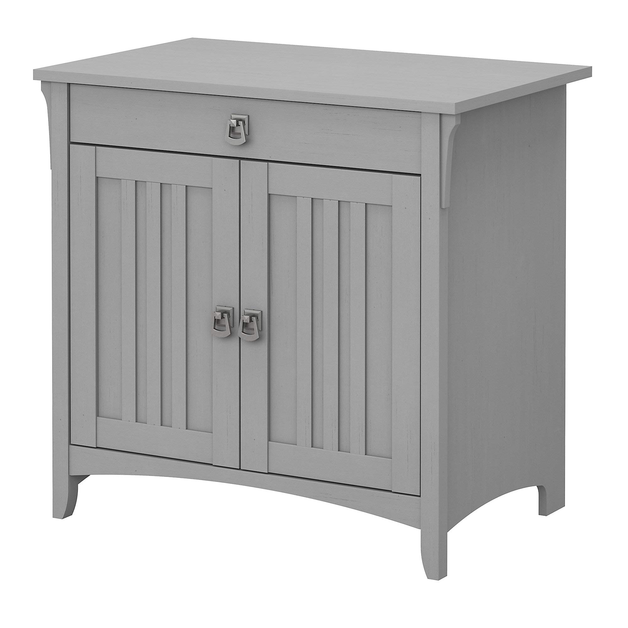 Bush Furniture Salinas Secretary Desk with Keyboard Tray and Storage Cabinet in Cape Cod Gray by Bush Furniture