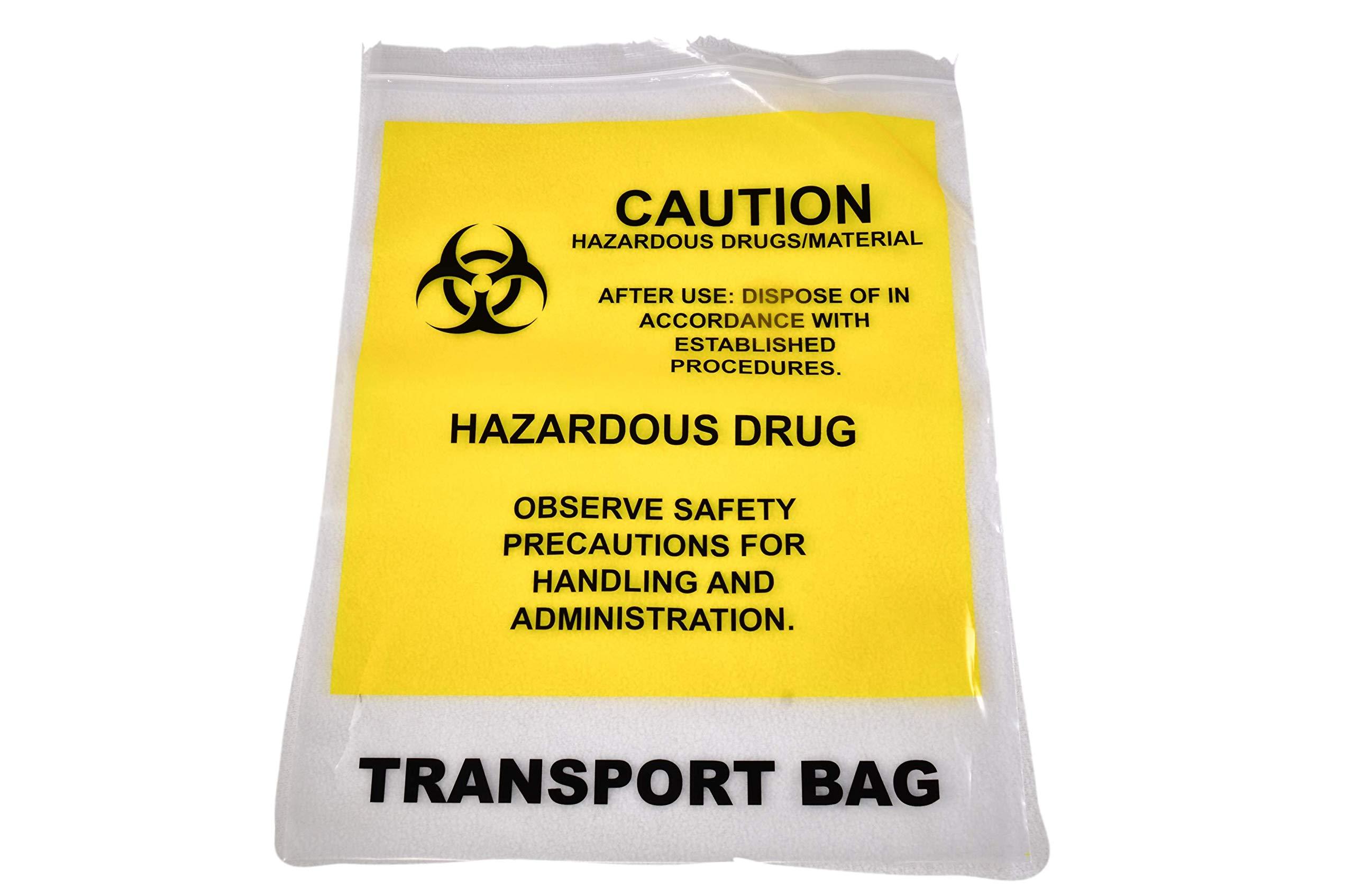 Drug Transport Bag, 12'' x 15'', Yellow- ASP Medical