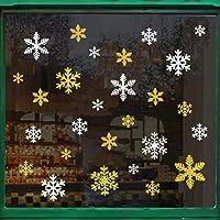 Naler 96 sneeuwvlokken raamafbeelding afneembare raamdecoratie statisch hechtende PVC sticker winter decoratie Glitzer