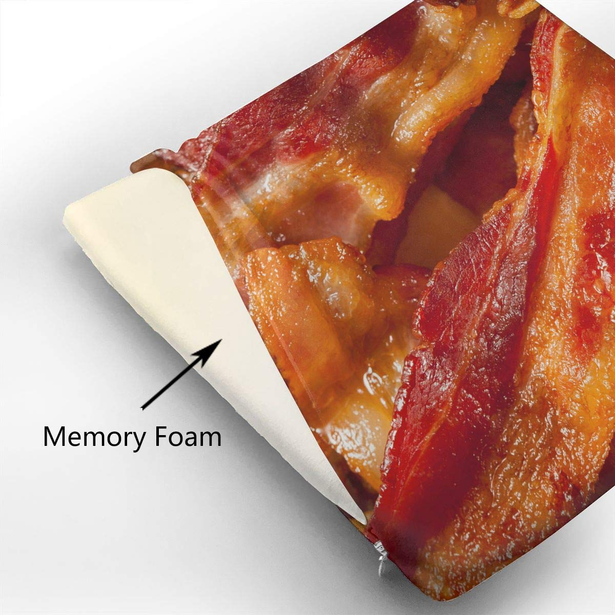 Amazon.com: Cojín de asiento O-X_X-O Bacon – Cojín de ...
