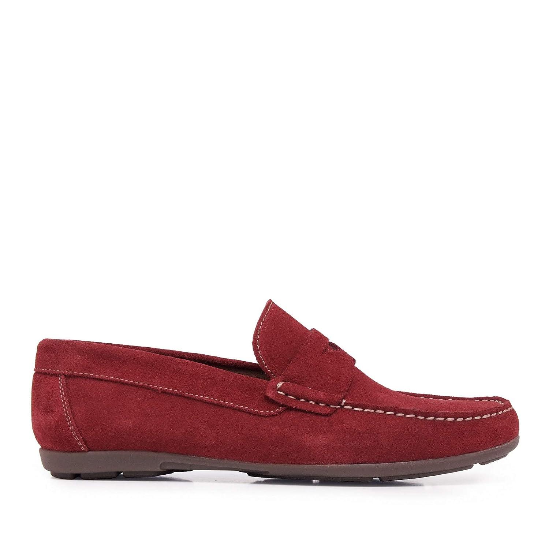 Castellanisimos Mocasín Antifaz Piel Granate Hombre: Amazon.es: Zapatos y complementos