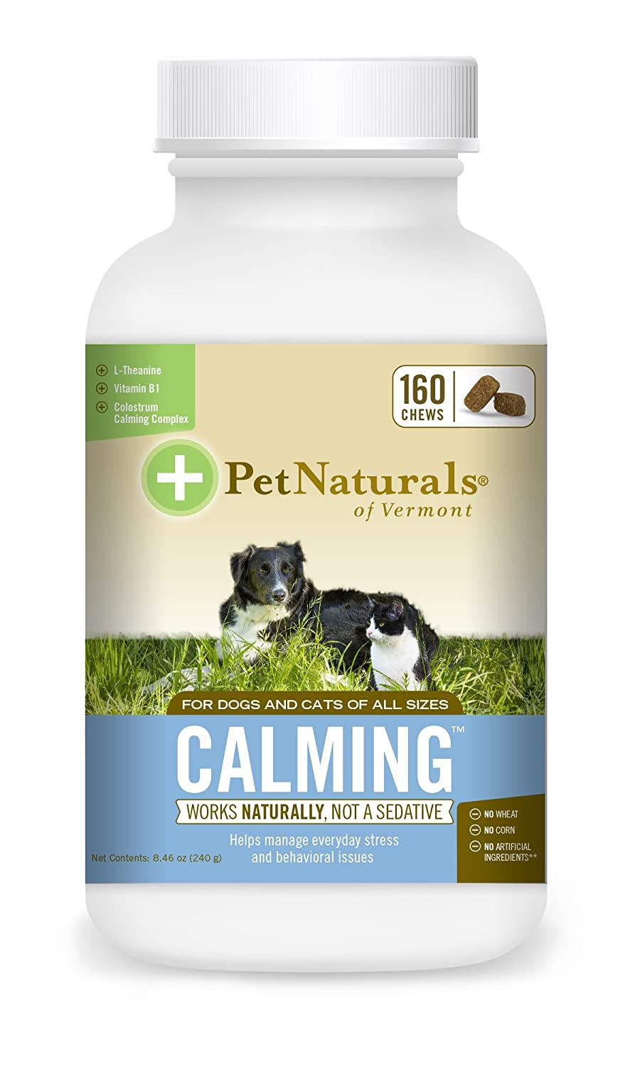 Amazon com pet naturals of vermont calming behavioral support for dogs cats 160 bite sized chews pet supplies