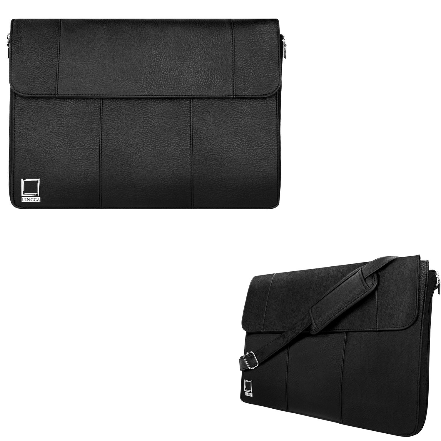 Black Laptop Shoulder Bag Briefcase Tablet Sleeve Messenger Bag 11.6inch to 13.3inch for Dell Latitude 11 / Latitude 12 / Inspiron 13 7000 / Inspiron 13 5000 / Chromebook 13 / Chromebook 11